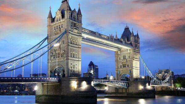 Тауэрский мост в Лондоне, архивное фото