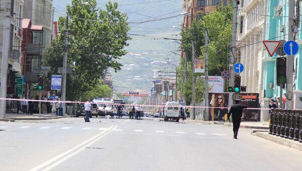 Взрыв у здания МВД в Махачкале