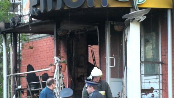 Первые кадры с места взрыва в магазине в центре Архангельска