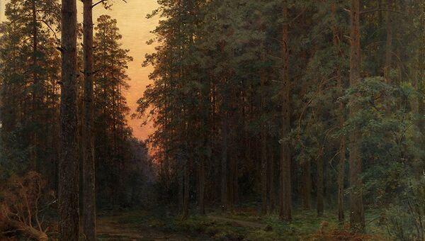 Иван Шишкин Вечерняя заря 1896