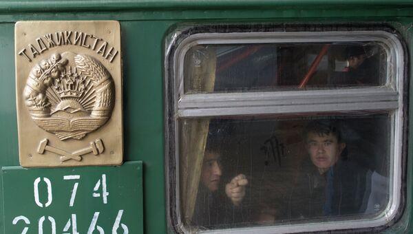 Прибытие поездов из Средней Азии в Москву. Архивное фото