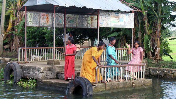 Женщины рыбачат. Архивное фото