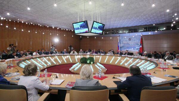 Заседание Общественной палаты Москвы, архивное фото
