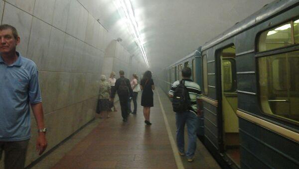 Задымление в метро Охотный ряд