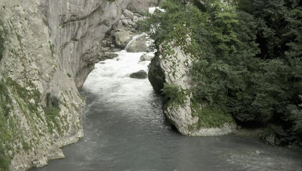 Река Мзымта, архивное фото