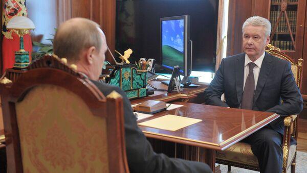 В.Путин провел рабочую встречу с С.Собяниным
