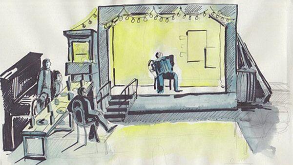 Рисунки к пьесе Алексея Паперного Август