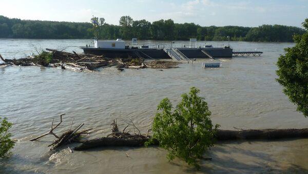 Наводнение в австрийском городе Хайнбург-ан-дер-Донау