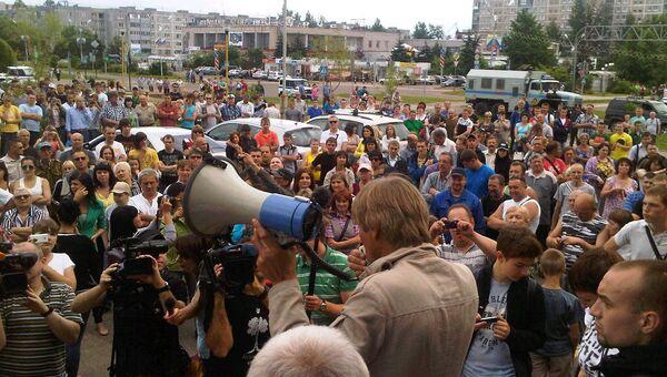 Митинг в Удомле
