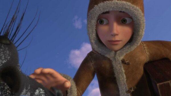 Кадр из мультфильма Снежная королева