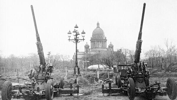 В блокадном Ленинграде, архивное фото