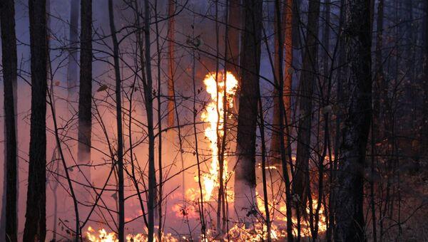 Пожар в пригороде Улан-Удэ
