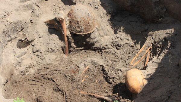 Перезахоронение останков советских солдат, погибших в сражениях за Воронеж