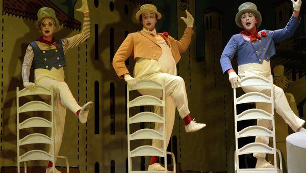 Пресс-показ оперы Три Пинто Вебера