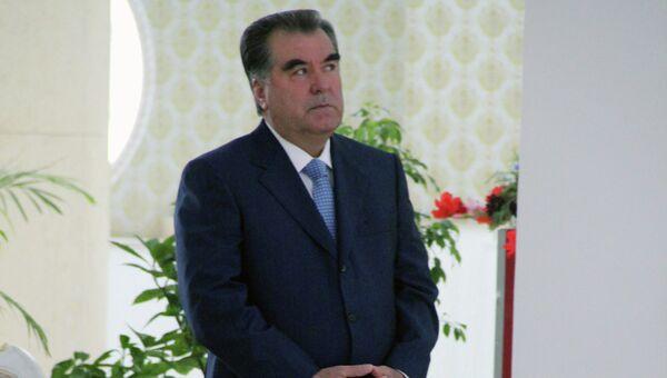 Президент Таджикистана Эмомали Рахмон, архивное фото