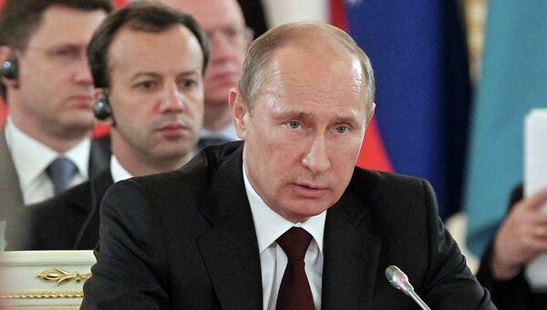 В.Путин на заседании 2-го саммита Форума стран-экспортеров газа