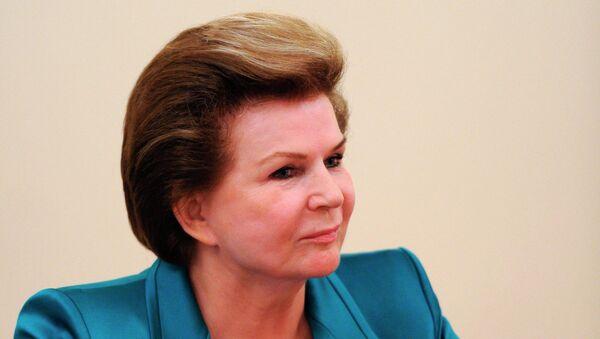 Первая женщина-космонавт, герой Советского Союза Валентина Терешкова. Архивное фото