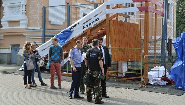 В Московском зоопарке рухнул помост, есть пострадавшие