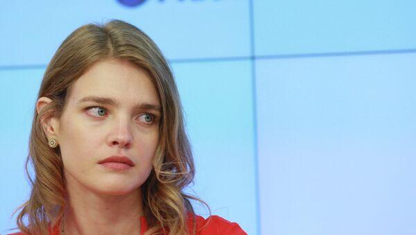 Наталья Водянова на пресс-конференции в РИА Новости