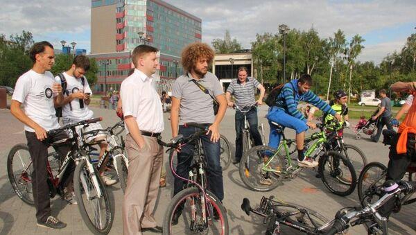 Велопробег блогера Варламова в Новосибирске