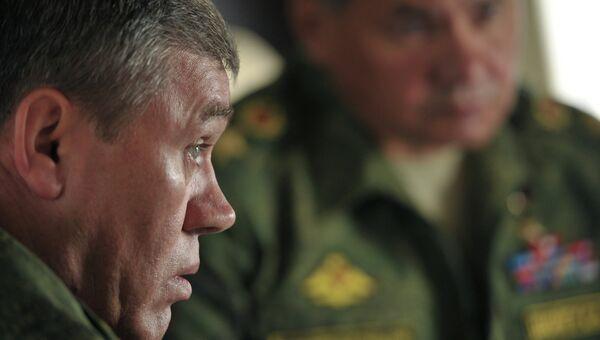 Начальник Генерального штаба Вооруженных сил РФ - первый заместитель министра обороны РФ, генерал армии Валерий Герасимов