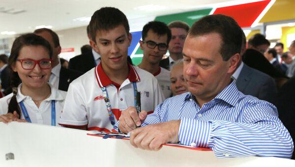 Д.Медведев на XXVII Всемирной летней Универсиаде 2013 в Казани. Архивное фото