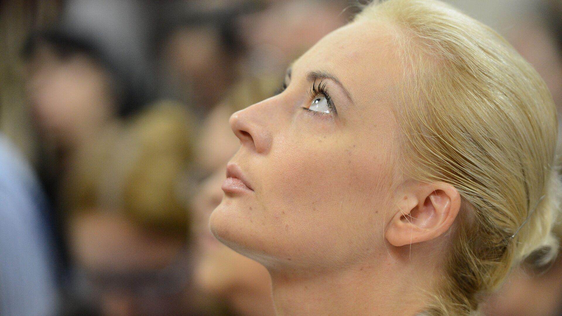 Супруга Алексея Навального Юлия Навальная в зале суда. - РИА Новости, 1920, 02.02.2021
