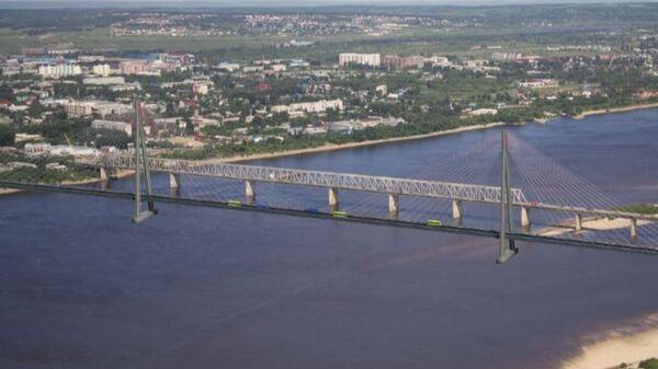 Один из проектов моста через Зею в Благовещенске