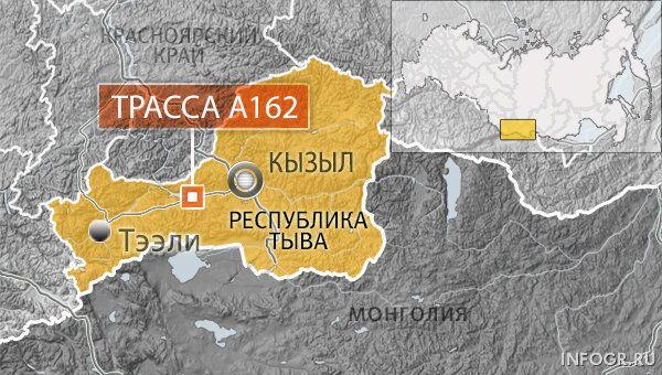 Женщина и ее дочь погибли, еще шесть человек пострадали в ДТП в Туве