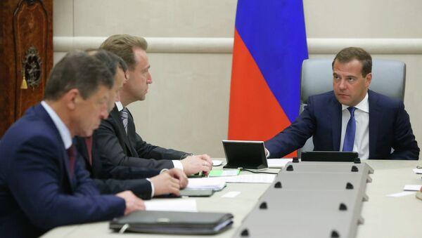 Встреча Д. Медведева с вице-премьерами РФ