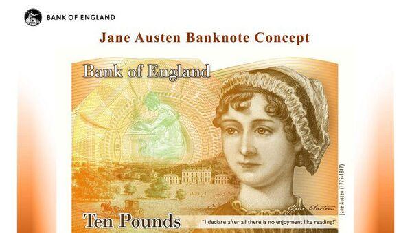 Образец банкноты с портретом британской писательницы Джейн Остин
