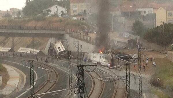 Крушение поезда в Испании, архивное фото