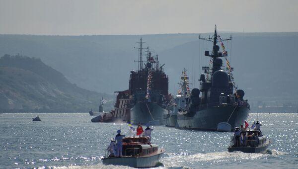 Корабли Черноморского флота РФ в Севастополе. Архивное фото