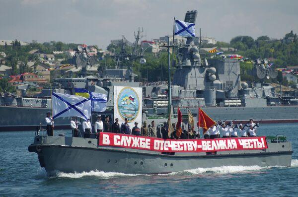 Репетиция парада к Дню ВМФ и Дню Флота Украины в Севастополе