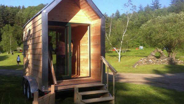 Дом, изолятором в котором служит материал из грибницы и кукурузных стеблей