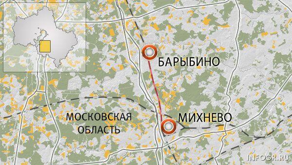 Перегон Михнево-Барыбино