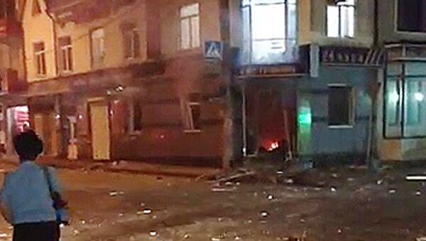 Взрыв у магазина в Махачкале