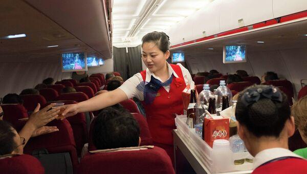 В самолете ТУ-204