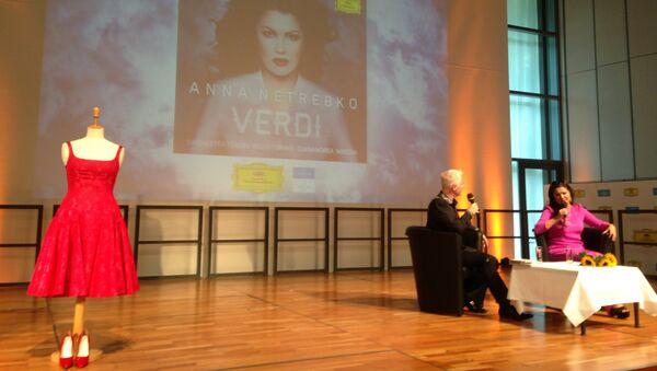 Анна Нетребко на презентации диска в Зальцбурге