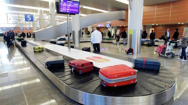 Зона выдачи багажа в зале прилета аэропорта Шереметьево