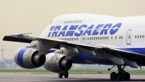 Самолет авиакомпании Трансаэро, архивное фото
