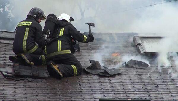Латвийские пожарные. Архивное фото