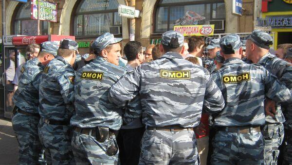 Около 20 человек задержаны за нарушение порядка на Сенной площади в Петербурге