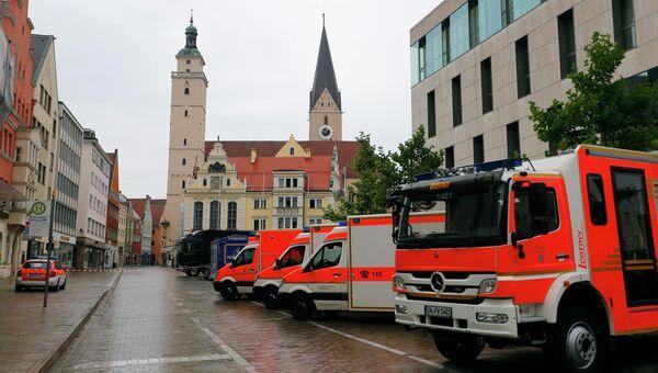 Оцепление у ратуши в Ингольштадте, Германия