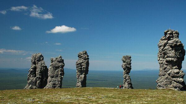 Столбы выветривания на плато Мань-Пупу-нер