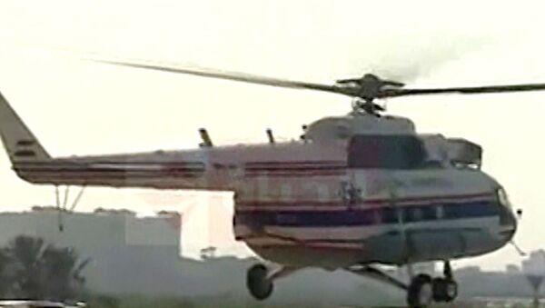 Военный вертолет доставил освобожденного из тюрьмы Мубарака в госпиталь
