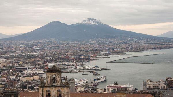 Вид на вулкан Везувий