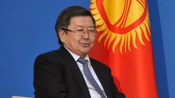 Премьер-министр Киргизии Жанторо Сатыбалдиев, архивное фото