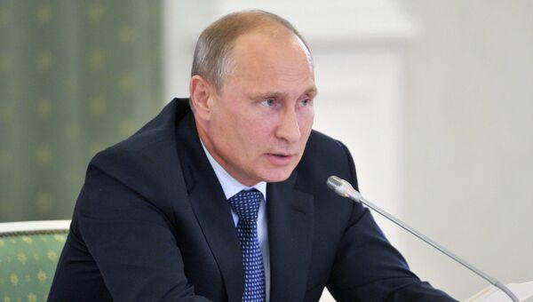 Рабочая поездка В.Путина в Сибирский федеральный округ. Архив