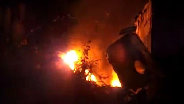 Пожар в Риге. Архивное фото